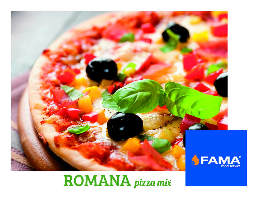 FAMA Food Service | Romana pizza mix: New mix for pizza, peinirli